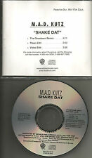 M.A.D. KUTZ Shake date 3TRX CLEAN & REMIX & 2 RARE EDITS PROMO DJ CD single mad