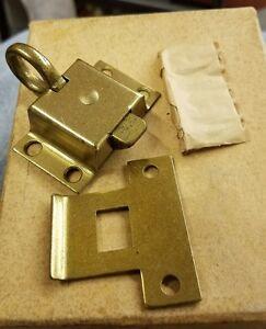 Russwin transom window cabinet  latch  catch new old stock Steel  brass colored