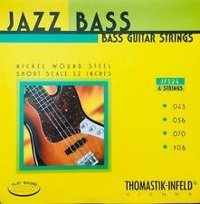 Thomastik Infeld JF324 Nickel Flat Wound Jazz Bass Strings short scale 43-106