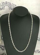 "24"" Sterling Silver Triple Curb Chain Necklace 61cm Men's Ladies 24.5g  (D2A)"