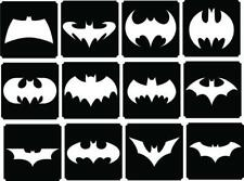 12 Batman stencils top up glitter tattoo kit face painting Airbrush (reusable)