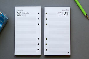 2021-2022 Personal Size Refills | 1-Day-per-Page | Fits Filofax START ANY MONTH!