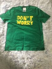 "Giordano Green Graphic Short Sleeve ""Don't Worry"" T-Shirt Size - Large NWT"