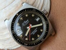 Vintage Le Gran Superautomatic Divers Watch w/Mint Dial,Warm Patina,All SS Case