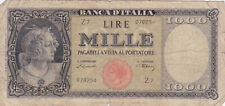 1000 LIRE VG BANKNOTE FROM ITALY 1947 PICK-83