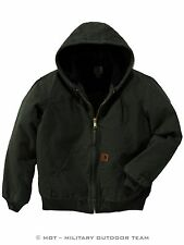 CARHARTT Quilted Sandstone Active Jacket con cappuccio Giacca, M (L), verde oliva, verde, j130