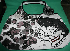 DISNEY PARKS CRUELLA DE VIL SHOPPING TOTE DISNEY SHOULDER BAG PURSE NEW