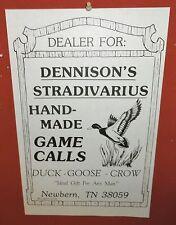 Vintage Earl Dennison Duck Call Dealer Sign