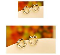 New 18K Gold Plated Lovely Bowknot Stud Earrings OZ Free Postage