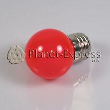 Lampada 1W LED E27 Rosso 220V 90 lumen Decorazione,ambiente,giardino SMD 3014