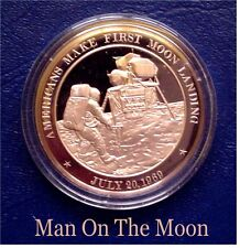 1969 - Americans Make First Moon Landing: Neil Armstrong  - Solid Bronze Medal
