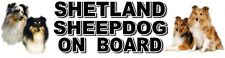 SHETLAND SHEEPDOG ON BOARD Dog Car Sticker By Starprint - Auto combined postage