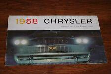 1958 Chrysler Completo Linea Automobile Dealer UK Brochure Pieghevole