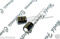 20pcs - SANYO SWG 100uF (100µF) 25V Radial Electrolytic Capacitor-CE1E101M4GANN
