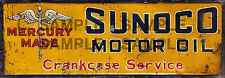 WEATHERED BUILDING GAS STATION MERCURY SUNOCO SIGN HO O N SIGN DECAL 1.5 X 4