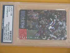 PSA DNA WALTER PAYTON SIGNED PHONE CARD HOF AUTOGRAPH CHICAGO BEARS AUTO #34