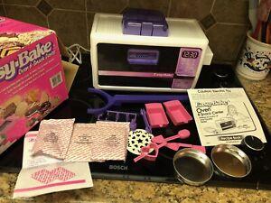 Vintage 1990s Hasbro Easy Bake Oven Original Box Recipe Sheets WORKING Excellent