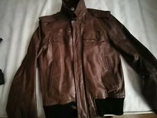 Men authentic diesel real leather jacket xl