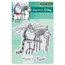 PENNY BLACK RUBBER STAMPS SLAPSTICK CLING YOU'RE MY TYPE NEW STAMP 2014