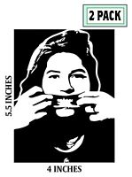 2 PACK KIM DEAL Stickers Vinyl Decal The Pixies Breeders Amps