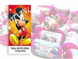 Mickey Mouse Mini Love Hearts Sweets Party Bag Fillers Kids Childrens #20