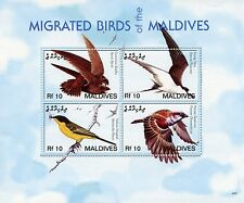 Maldivas 2006 estampillada sin montar o nunca montada migrados Aves I 4v m/s Swift charranes lavandera gorriones sellos