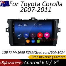 "8"" Android 6.0 quad core GPS Car head unit For Toyota Corolla 2007-2011 wifi"
