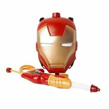 MARVEL Iron Man Backpack Water Gun Squirt Shoots for Kids