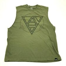Vintage Vans Cut Off Shirt Green Tank Top Men's Size Large L Sleeveless Graphic