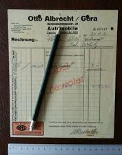 Briefkopf Werbung Otto Albrecht Gera Automobile Opel Chevrolet 1936 Oldtimer  46