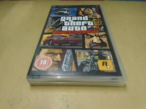 Grand Theft Auto Liberty City Stories PSP Sony Playstation- With Map & Manual