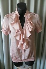 VINTAGE  Style ~ Pink ~ Lace Back Insert ~  TOP * Size 6 * SALE !! *