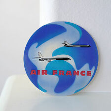 "#2981 Air France Airlines Vintage retro style Luggage Label Travel 3"" STICKER"