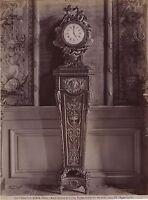 Museo Del Louvre Parigi Orologio Francia Vintage Albumina Ca 1880