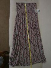LulaRoe Maxi Skirt Gray with Red Dots Ladies Size M Medium 43 in. New with Tags