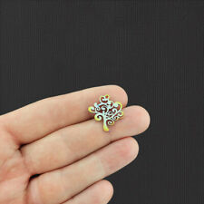 2 Tree of Life Rainbow Electroplated Stainless Steel Charms - Ssp121