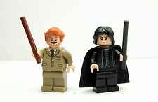 LEGO Harry Potter 4842/4867 Snape and Lupin Lot of 2x Minifigures w/ Wands