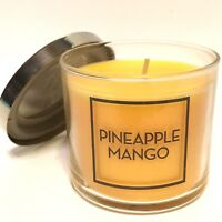 NEW 1 BATH & BODY WORKS PINEAPPLE MANGO 4 OZ SCENTED FILLED MEDIUM GLASS CANDLE