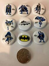 NEW Lot of 9 Batman Badges - 3cms diameter - Party Favours, Loot Bag Fillers