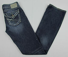 Womens Silver Pioneer Boot cut jeans prominent stitching Blue Size W 25 / L 33