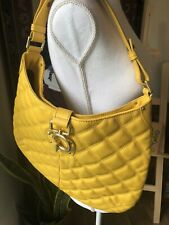 J Crew Yellow Quilted Leather Shoulder Hand Bag Purse