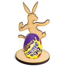 Wooden MDF Easter Bunny Rabbit Craft Creme Egg Holder Stand Perfect Easter Gift