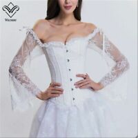Corset Sexy Long Sleeve Lace Corselet Lace Up Bustier Corset For Posture Wedding
