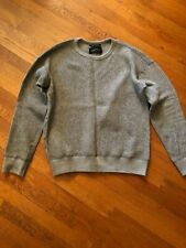 Brand New Wings + Horns Wool Waffle Knit Sweater - Gray, Men's Size S