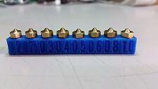 +3D Printer Nozzle Set .2 .25 .3 .4 .5 .6 .8 1.0 V5V6 1.75mm Extruder Hotend TIP