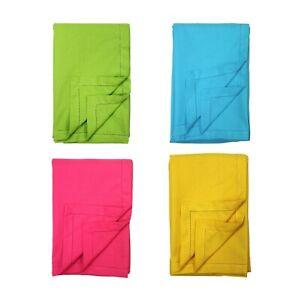 Plain Colour Cotton Table Cloth Cotton with picot trim 140x230cm