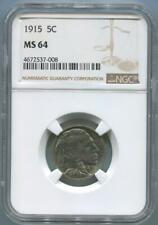 1915 Buffalo Nickel, NGC MS64