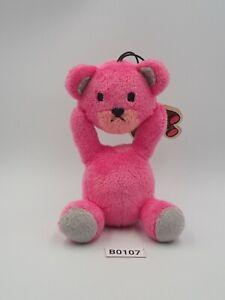 "Control Bear B0107 Pink Strap Mascot Furyu Plush 5"" Toy TAG Doll Japan"