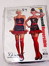 Size L Women's Red & Blue Sailor-Army Reversible Halloween Sexy Costume Party