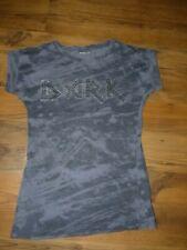 """Cooles Rocker/Bike T-Shirt """"DARK"""", Gr. M -schwarz/grau mit Nieten"""